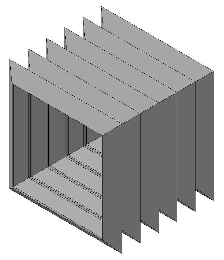 Квадратная или прямоугольнаягофрированная защита